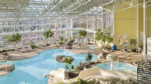 2 indoor pools, 2 outdoor pools, pool umbrellas, pool loungers