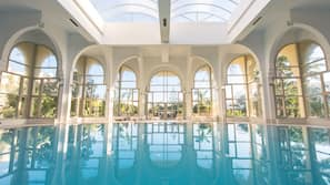 Indoor pool, 3 outdoor pools, open 9:30 AM to 6:00 PM, pool umbrellas