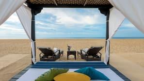 전용 해변, 백사장, 비치 카바나, 일광욕 의자