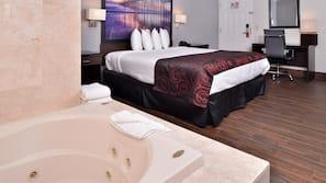 Premium bedding, pillow-top beds, desk, blackout curtains