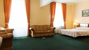 Desk, iron/ironing board, free cribs/infant beds, free WiFi