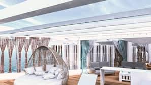 Private beach, beach shuttle, beach cabanas, sun-loungers