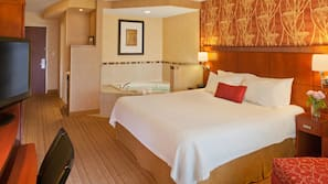 Premium bedding, pillowtop beds, desk, blackout drapes