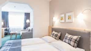 Een kluis op de kamer, geluiddichte muren, gratis wifi, beddengoed