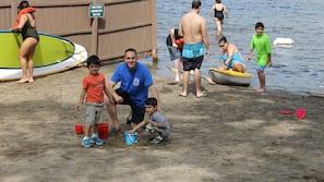 Private beach, kayaking, rowing