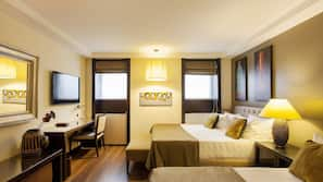 Hypo-allergenic bedding, pillow-top beds, minibar, in-room safe