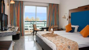 Biancheria da letto di alta qualità, minibar, tende oscuranti