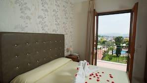 Hypo-allergenic bedding, down comforters, memory foam beds, minibar