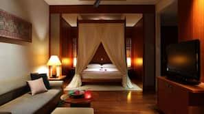 1 間臥室、高級寢具、羽絨被、迷你吧贈品