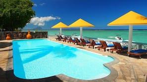 Piscina all'aperto, ombrelloni da piscina