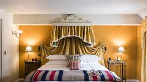 Sengetøy i egyptisk bomull, sengetøy av topp kvalitet og safe på rommet