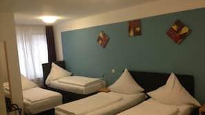 Extra bedden, gratis wifi, beddengoed