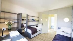 Desk, laptop workspace, rollaway beds, free WiFi