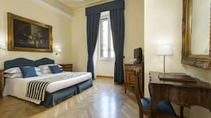 Minibar, safe på rommet, wi-fi (inkludert) og sengetøy
