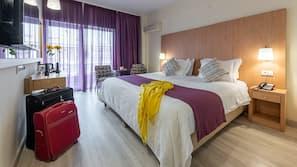 Pillowtop beds, minibar, in-room safe, laptop workspace