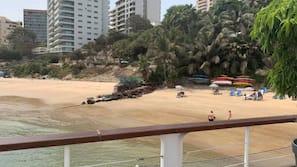 Private beach, sun-loungers, beach umbrellas, fishing
