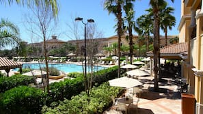 4 outdoor pools, cabanas (surcharge)
