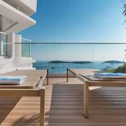 Utsikt mot havet/stranden