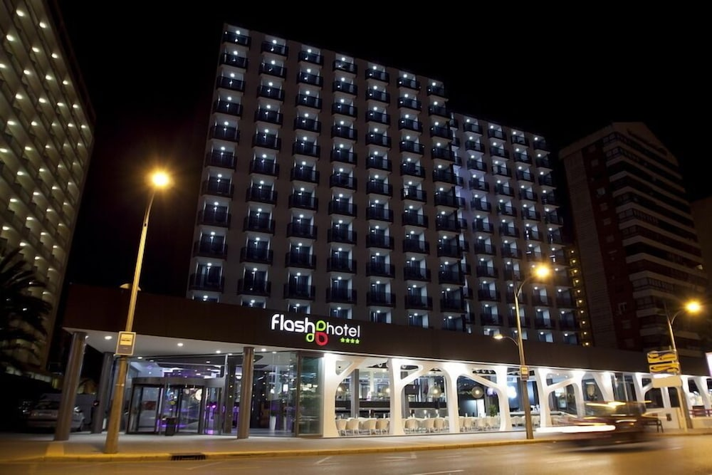 Front of Property - Evening/Night, Flash Hotel