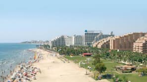 Ubicación cercana a la playa, tumbonas, sombrillas y submarinismo