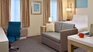 Safe på rommet, skrivebord, strykejern/-brett og gratis wi-fi