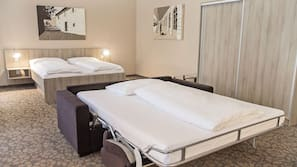 Pillow-top beds, in-room safe, desk, iron/ironing board