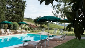 3 outdoor pools, open 7:00 AM to 8:00 PM, pool umbrellas, sun loungers