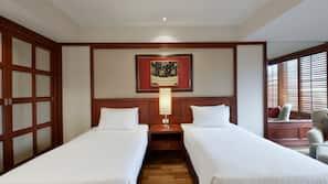 埃及棉床單、高級寢具、迷你吧、房內夾萬