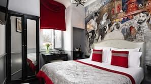 高級寢具、迷你吧、保險箱、設計每間自成一格