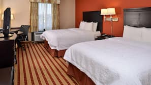 In-room safe, iron/ironing board, free wired internet, bed sheets