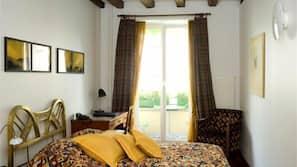 1 bedroom, hypo-allergenic bedding, down duvets, minibar