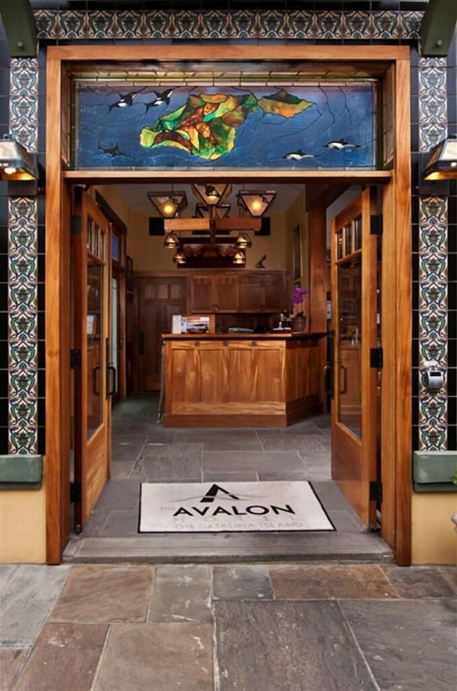 Interior Entrance, The Avalon Hotel on Catalina Island