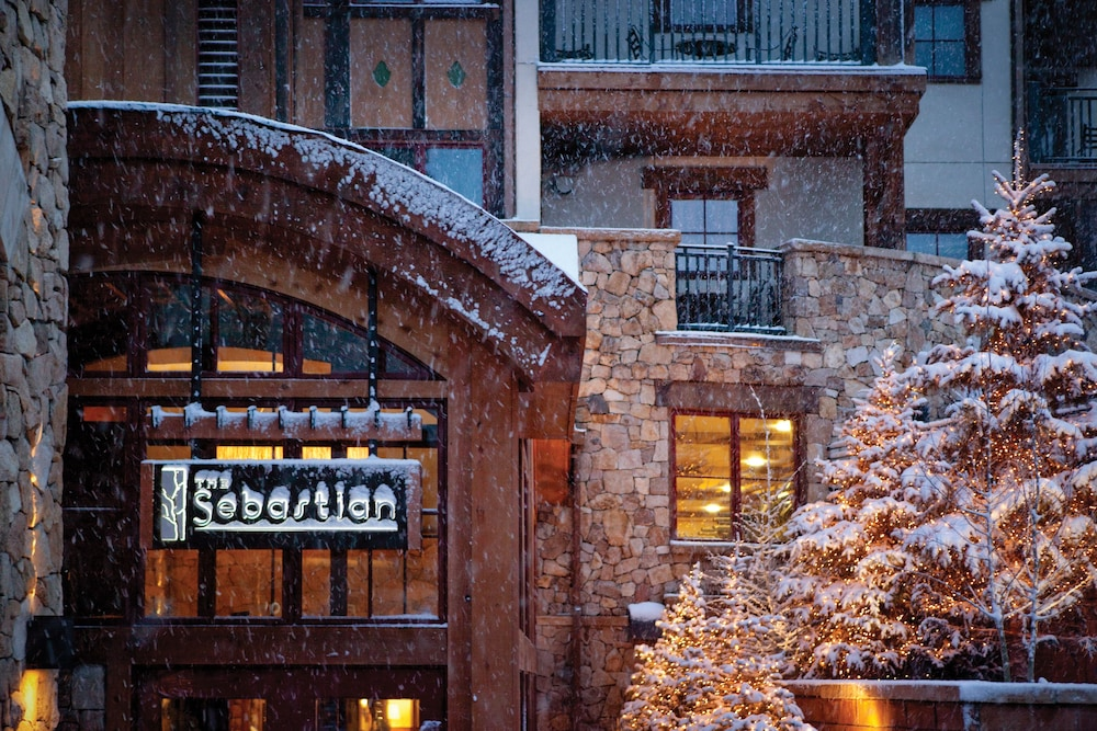 Exterior detail, The Sebastian - Vail