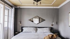 Premium bedding, down duvets, free WiFi