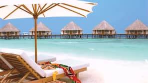 Beach towels, water skiing, windsurfing, beach volleyball