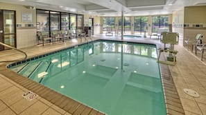 Indoor pool, open 6 AM to 11 PM, sun loungers