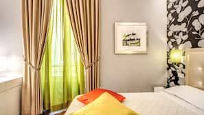 Caja fuerte, sistema de insonorización, wifi gratis y ropa de cama
