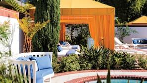 Indoor pool, outdoor pool, cabanas (surcharge), pool umbrellas