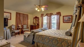 Individually decorated, individually furnished, desk, rollaway beds