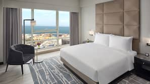 Down comforters, free minibar items, in-room safe