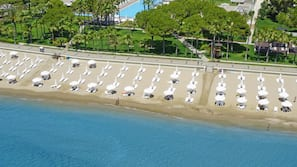 Private beach, beach cabanas, sun-loungers, beach umbrellas