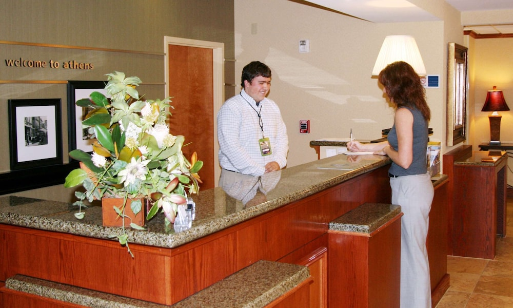 Reception, Hampton Inn Athens