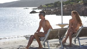 Private beach nearby, beach massages