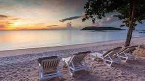 Private beach, beach shuttle