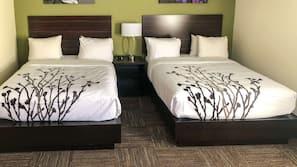 WiFi, bed sheets, alarm clocks