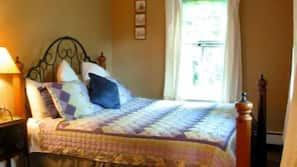 Pillowtop beds, iron/ironing board, free Internet