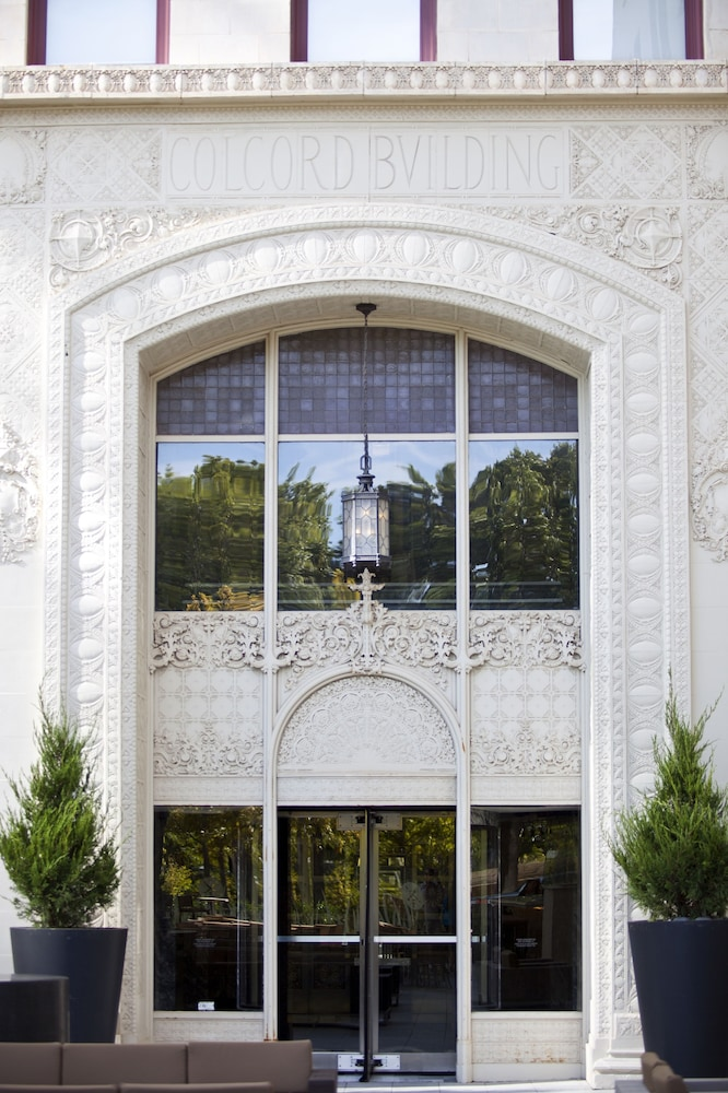 Exterior detail, Colcord Hotel