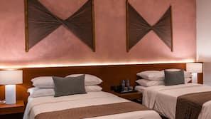 Ropa de cama de alta calidad, edredones de plumas, minibar