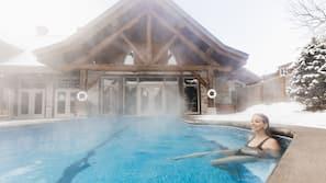 Indoor pool, outdoor pool, open 9:00 AM to 10:00 PM, pool umbrellas