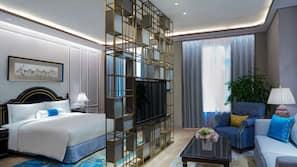高級寢具、迷你吧、保險箱、手提電腦工作空間